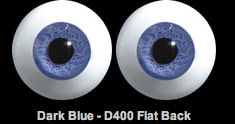 Glass Paperweight Eyes (D400 Flat Back)
